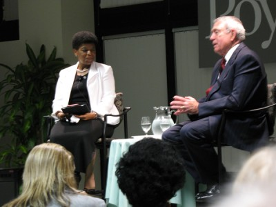 veteran broadcast journalist Dan Rather gave his unique perspective of global events based on over a half century of major network reporting