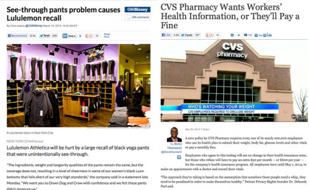 cvs, lululemon battle for negative headlines