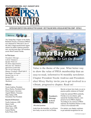 prsa tampa bay newsletter july august 2010