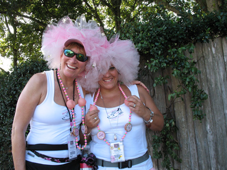 two of the more than 1,500 walkers who strolled by halloween weekend