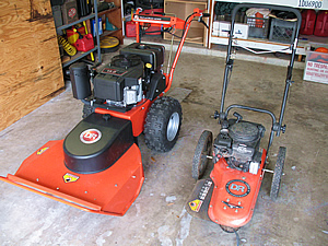 you can't have just one - field and trimmer mower together