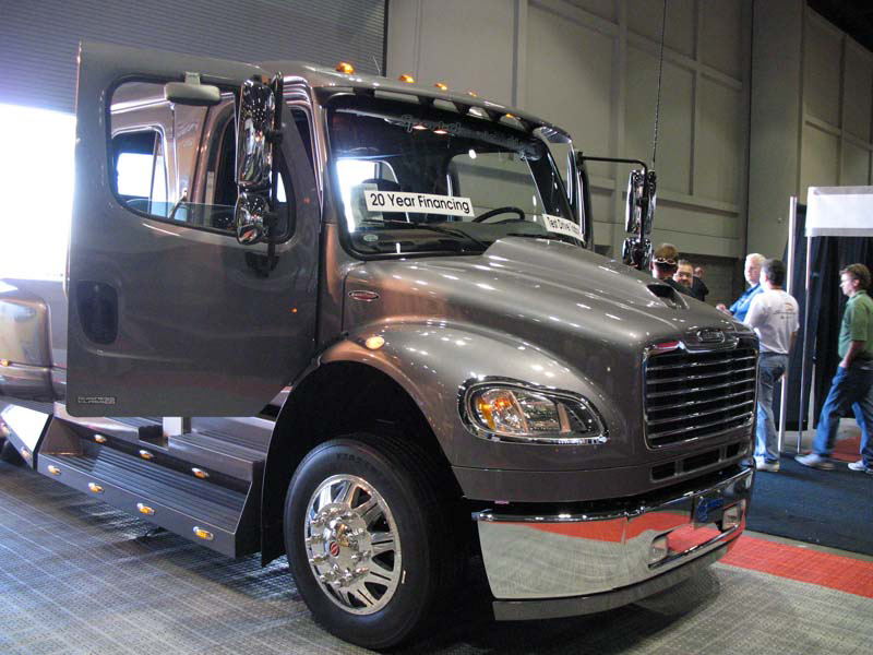 this Freightliner based pickup is perfect for a beer run