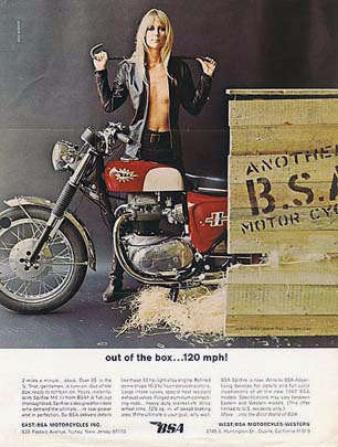 classic BSA ad for Lightening model
