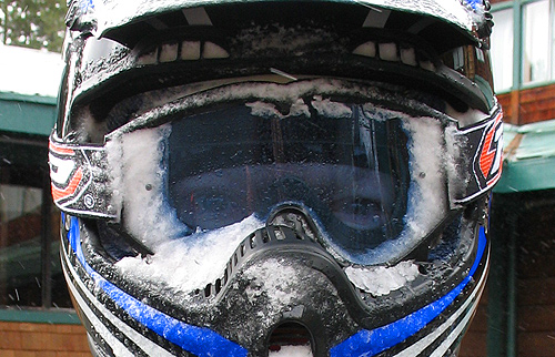 wipers would've helped to keep goggles free of ice
