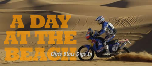 chris blais storms the dunes for red bull/ktm