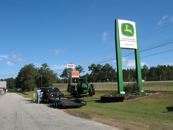 GreenSouth Equipment runs alongside U.S. 19, the Florida-Georgia turnpike.