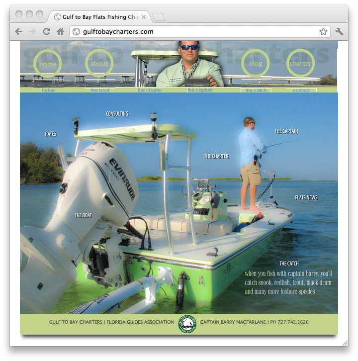 flats fishing charter needed mini site, social strategy