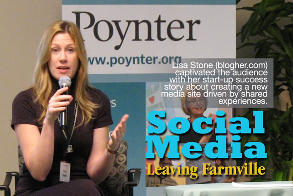Lisa Stone captured the audience at Poynter Social Media Day