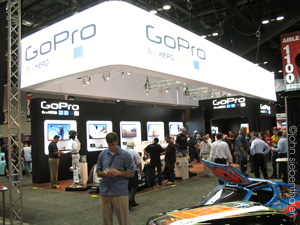GoPro Heros are popular as booth giveaways